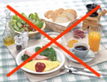 朝食は取らずにご来院下さい。/山科区 内科 がん 治療