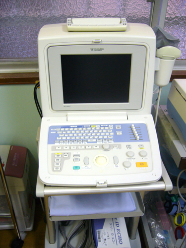 腹部エコー検査器/山科区 内科 がん 治療